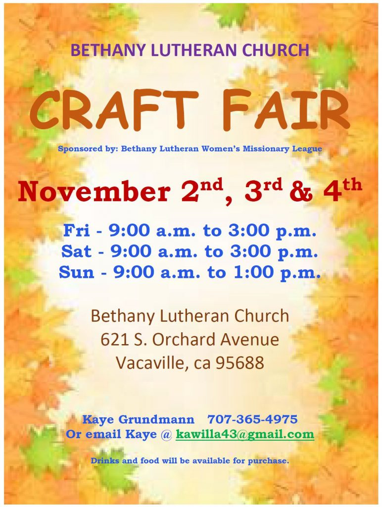 Craft Fair Vacaville Ca